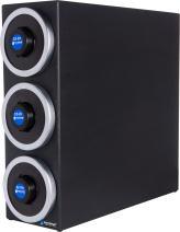 "San Jamar C2903 EZ-Fit Dimension Polystyrene Beverage Dispenser Cabinet with Metal Finish Trim Rings, 7-3/4"" Width x 22-3/8"" Height x 23-3/4"" Depth"