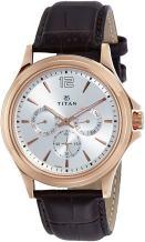 Titan Workwear Men's Chronograph Watch | Quartz, Water Resistant, Stainless Steel Band