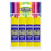 Fullmark All Purpose Glue Sticks, Washable, Non-toxic, Strong Clear Adhesive, 0.28oz / 8g, 4-Count, Suitable for kids