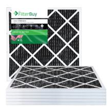 FilterBuy Allergen Odor Eliminator 18x20x1 MERV 8 Pleated AC Furnace Air Filter with Activated Carbon - Pack of 6-18x20x1