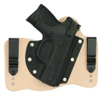 FoxX Holsters Compatible for Smith & Wesson M&P Compact 9mm, 40, 45 in The Waistband Hybrid Holster Tuckable, Concealed Carry Gun Holster