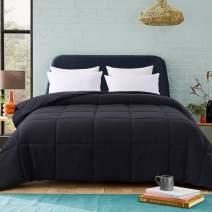 Cosybay Black Comforter Twin XL, Down Alternative Bed Comforter, Lightweight Duvet Insert with Corner Tabs(68×92 Inch)