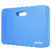 Premium Thick Kneeling Pad, Ohuhu Large Comfy Foam Gardening Knee Pad Kneeling Mat with 2 Different Surfaces, Extra Thick Cushion Floor Kneeler for Gardening, Exercise, Cleaning, 17x11x1.5 Inch, Blue