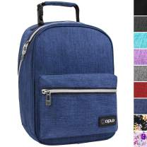 OPUX Premium Insulated Lunch Box for Boys, Girls | Durable Leakproof School Lunch Bag with Handle Clip, Mesh Pocket | Reusable Work Lunch Pail Cooler for Adult, Men, Women | Fits 14 Soda Cans (Navy)