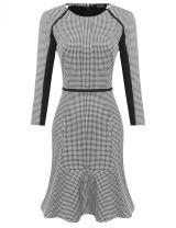 ACEVOG Women's Retro Bodycon Wear to Work Slim Business Pencil Cocktail Dress