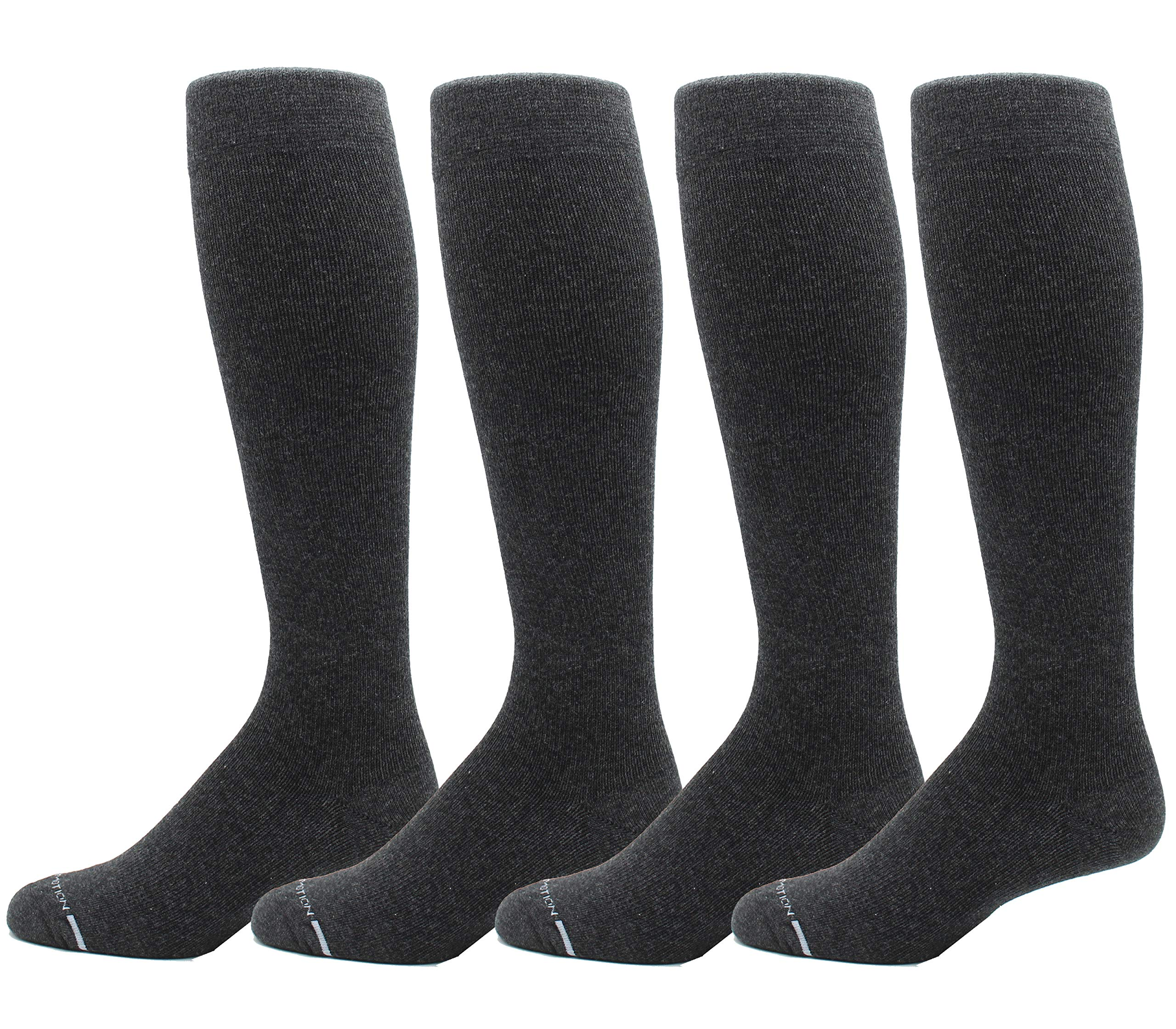Dr. Motion Compression Socks Men & Women (8-15 mmHg) BEST Graduated Athletic Fit Running, Nurses, Travel & Maternity-4 Pairs