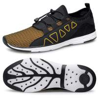 vibdiv Men's Water Shoes - Quick Drying Outdoor Lightweight Sports Aqua Shoes