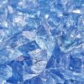 Lake Tahoe Blue - Crushed Fire Glass for Indoor and Outdoor Fire Pits or Fireplaces | 10 Pounds | 3/8 Inch - 1/2 Inch