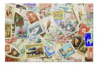 Collection Colorful Vintage Used Postage Stamps 9019218 (Premium 1000 Piece Jigsaw Puzzle for Adults, 20x30, Made in USA!)