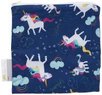 """Itzy Ritzy Reusable Snack Bag – 7"""" x 7"""" BPA-Free Snack Bag is Food Safe, Washable and Ideal for Storing Snacks, Pacifiers, Electronics and Makeup in a Diaper Bag, Purse or Travel Bag, Unicorn Dreams"""