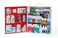 MEDIQUE 3-Shelf First Aid Kit, Side-Open First Aid Cabinet w/Alcohol Wipes