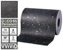 VViViD Glitter Black DECO65 Permanent Adhesive Craft Vinyl Roll for Cricut, Silhouette & Cameo (6ft x 1ft)