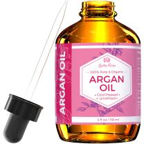 Argan Oil by Leven Rose, 100% Pure Virgin Cold Pressed Moroccan Anti Aging Acne Treatment Moisturizer for Hair Skin & Nails 4 oz