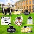 2021 Graduation Decorations Yard Sign for Party - 7 Pics of Graduation Yard Signs with Stakes as Outdoor Decor or Photo Props, Graduation Party Supplies for Kindergarten, College, Grad, Class of 2021