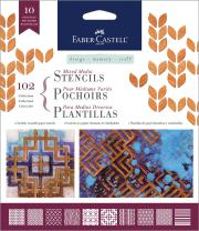 Faber-Castell Mixed Media Paper Stencils (102 - Classic)