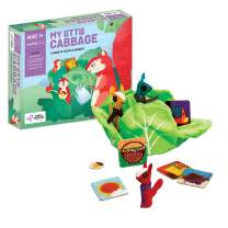 Chalk and Chuckles My Little Cabbage. Preschooler, Memory and Tactile Game with Finger Puppets