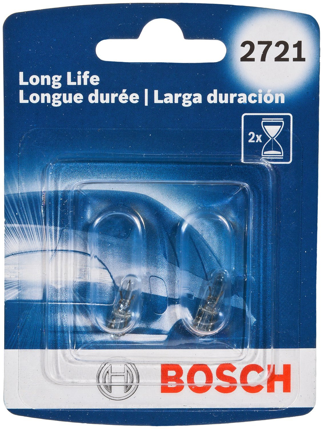 Bosch 2721 Long Life Upgrade Minature Bulb, Pack of 2