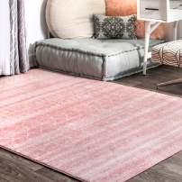 "nuLOOM Moroccan Blythe Area Rug, 8' 10"" x 12', Pink"