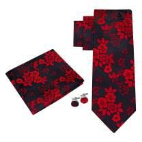 Twenty Dollar Tie Men's Original Floral Silk Necktie Set
