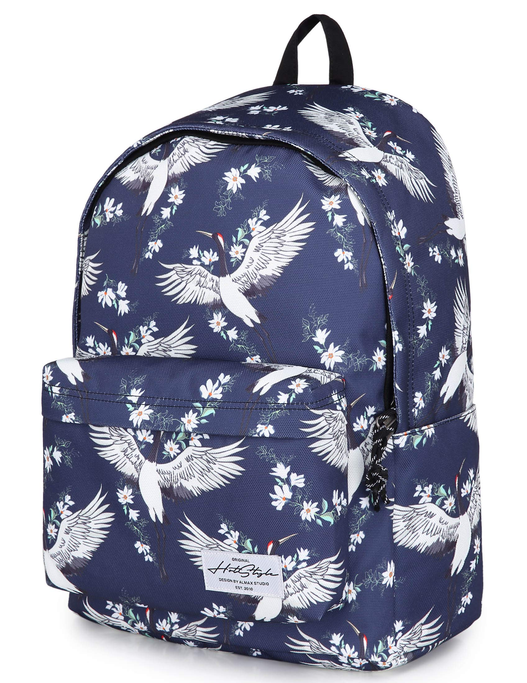 CANDER Classic School Backpack College Bookbag, fits 15-in Laptop, 16.9x13x6.7in