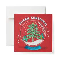 American Greetings Christmas Cards, Snowglobe (6-Count)