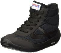 PANAM Tennis Shoes - Classic & Iconic - Handcrafted Zapatillas - Diamante Negro Hi-Top - (US) Men