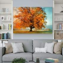 Renditions Gallery Landscape Pictures Artwork Giclee Print Canvas Art Ready to Hang for Home Wall Decor, 24x36, Autumn's Passion