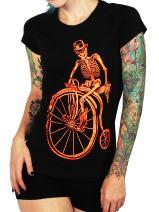 SFYNX 'Graveyard Shift' Women's Rave T Shirt - EDM Clothing - Blacklight Reactive Tee