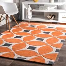nuLOOM Gabriela Contemporary Area Rug, 12' x 15', Deep Orange