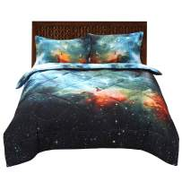 ENJOHOS 3PCS Cool Galaxy Bedding for Kids 3D Universe Space Quilt Comforter Sets Full Size Super Soft Starry Sky Bedding Gift for Boys and Girls (1Comforter 2 Pillow Shams)