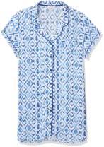 Amazon Brand - Mae Women's Sleepwear Lightweight Woven Notch Collar Sleep Shirt