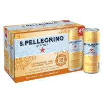 S.Pellegrino Essenza Tangerine & Wild Strawberry Flavored Mineral Water, 11.2 Fluid Ounce (Pack of 8)