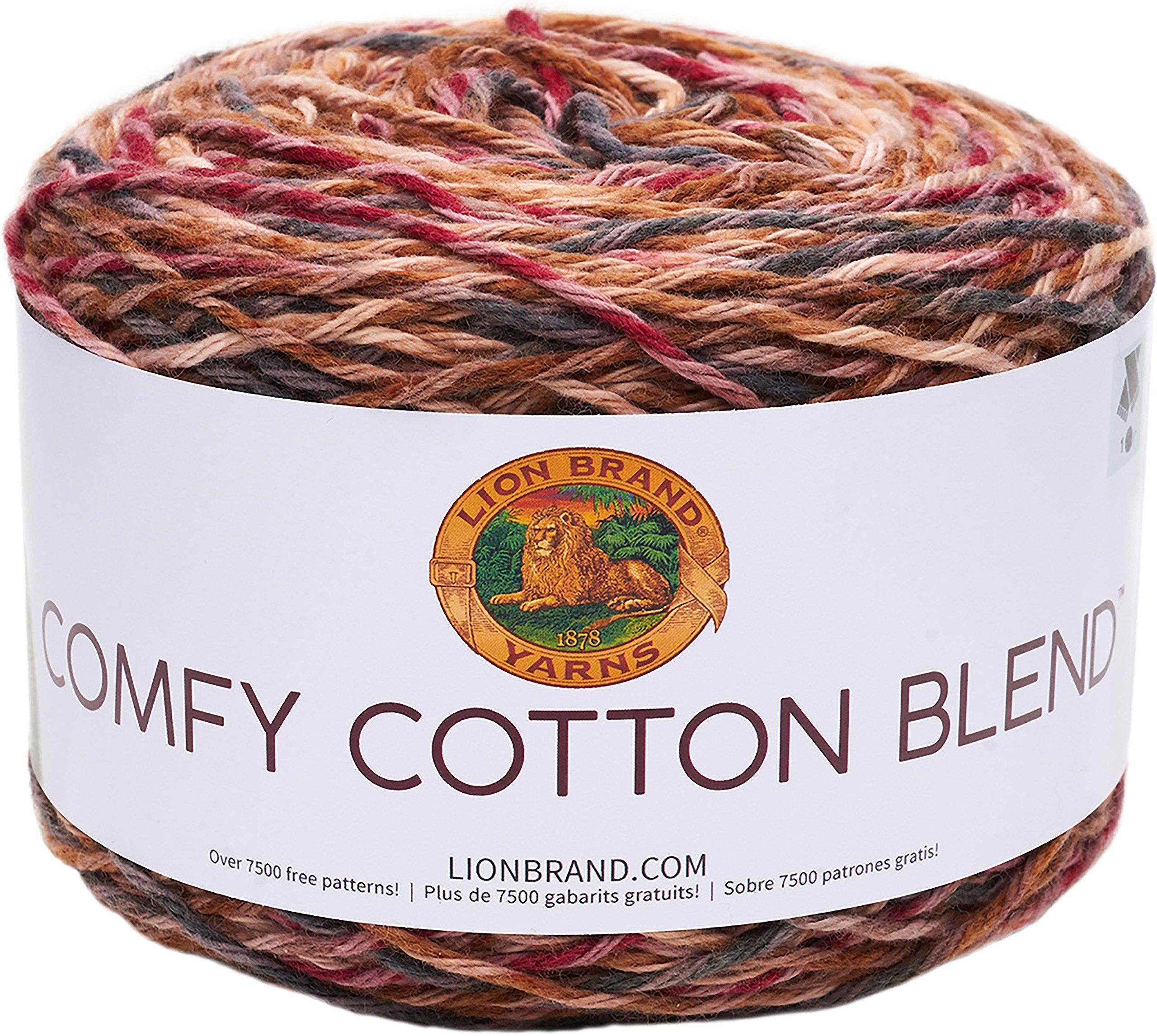 Lion Brand Yarn Comfy Cotton Blend Yarn, Fireside