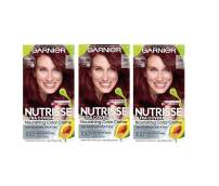 Garnier Hair Color Nutrisse Ultra Coverage Nourishing Hair Color Creme, Cinnamon Whiskey 550, Pack of 3