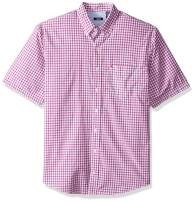 IZOD Men's Big and Tall Breeze Short Sleeve Button Down Gingham Shirt
