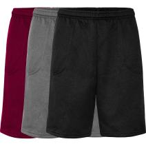OLLIE ARNES Athletic Fleece Short for Men, Gym Casual Workout Sweat Short Elastic Waist