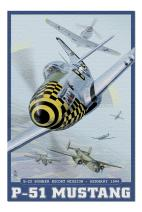 B-25 Bomber Escort Mission - P-51 Mustang (Premium 1000 Piece Jigsaw Puzzle for Adults, 19x27, Made in USA!)