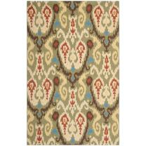 """Safavieh Chelsea Collection HK382C Hand-Hooked Green and Multi Premium Wool Area Rug (5'3"""" x 8'3"""")"""
