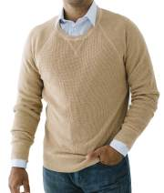 Hope & Henry Mens' Pull Over Waffle Stitch Sweater