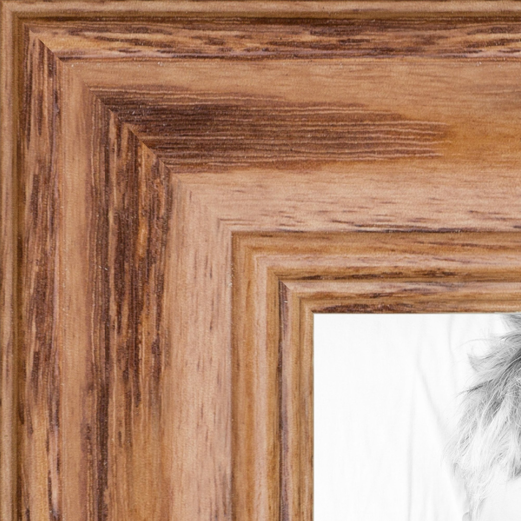 ArtToFrames 5x25 inch Honey Stain on Solid Red Oak Wood Picture Frame, 2WOM0066-59504-YHNY-5x25