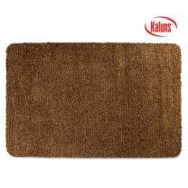 Kaluns Door Mat, Front Doormat, Super Absorbent Mud Mats, Doormats for Entrance Way, Entry Rug, Non Slip PVC Waterproof Backing, Shoe Mat for Entryway, Machine Washable (18x28 Brown)