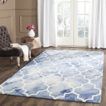 Safavieh Dip Dye Collection DDY535K Handmade Moroccan Watercolor Blue and Ivory Wool Area Rug (6' x 9')
