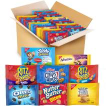 OREO Mini, CHIPS AHOY! Mini, Nutter Butter Bites, RITZ Bits Cheese, RITZ Bits Peanut Butter, Teddy Grahams Cinnamon, Wheat Thins, Fig Newtons, Cookies & Crackers Variety Pack Snack Box, 48 Snack Packs