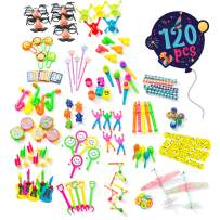 Birthday Party Favors For Kids Pack of 120 Pcs - Bulk Toys Assortment   Goodie Bag Fillers and Stuffers   Pinata Filler Toys   Treasure Box Prizes for Classroom