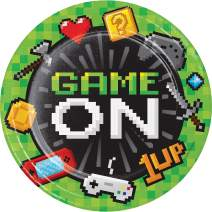 """Creative Converting Video Game Party Plate, 8.75"""", Multicolor"""