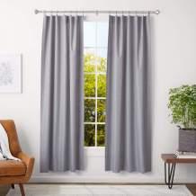Amazon Basics 1-Inch Curtain Rod with Urn Finials