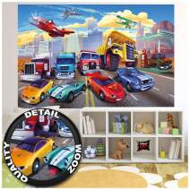 Children's Room Mural – Car Racing Mural – Decoration Airplane Cars Adventure Firefighters Sports Cabrio Comic Wallpaper Photoposter Decor (82.7 x 55 Inch / 210 x 140 cm)