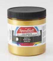 Speedball Acrylic Screen Printing Ink, 8 fl. oz, Gold 8 Fl Oz