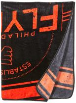 """Officially Licensed NHL """"Stamp"""" Plush Raschel Throw Blanket, Multi Color, 60"""" x 80"""""""