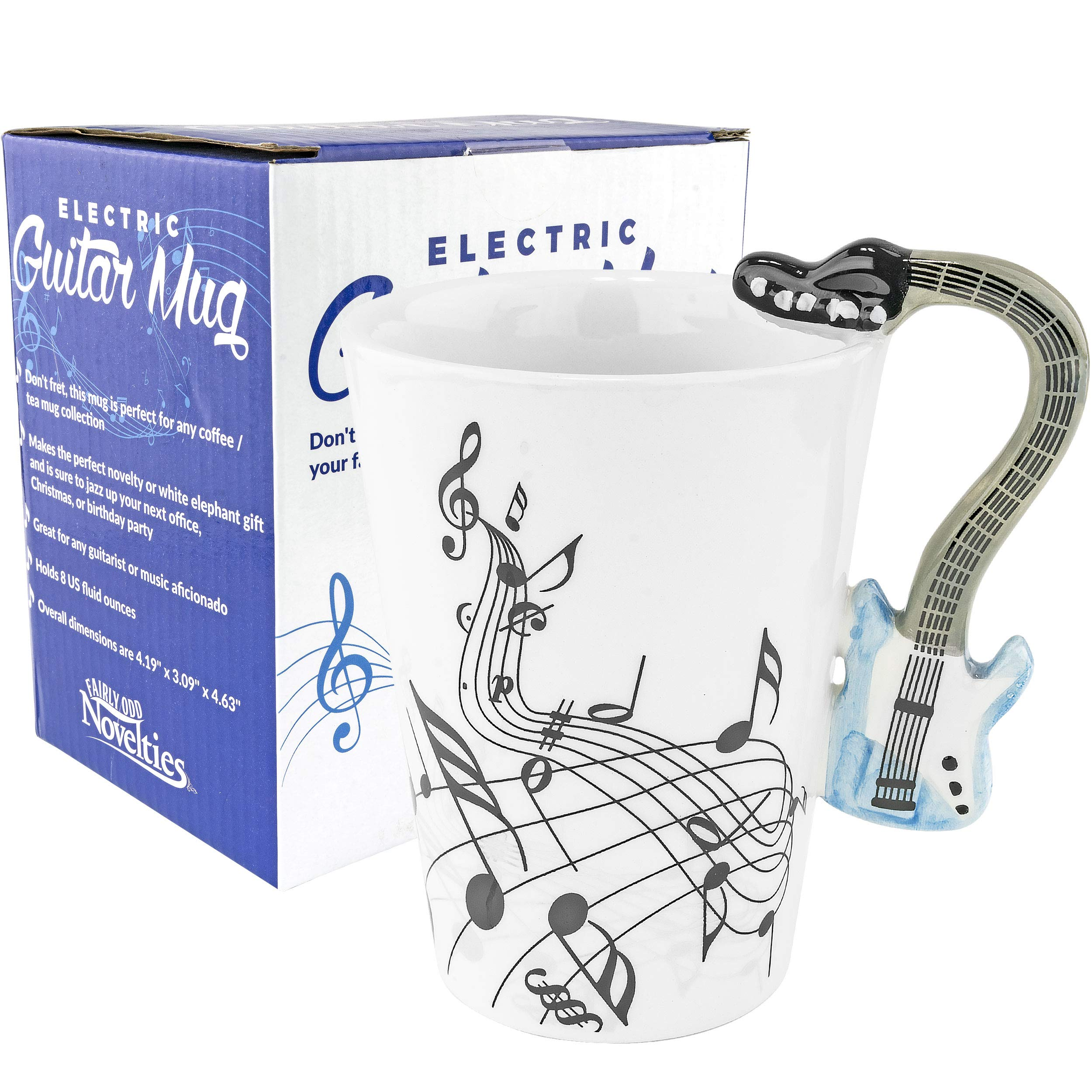Fairly Odd Novelties FON-10214 Blue Electric Guitar Coffee Mug, One Size, White